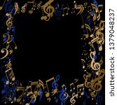square frame of musical notes.... | Shutterstock .eps vector #1379048237