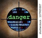 web danger target | Shutterstock . vector #137905307