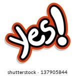 yes symbols | Shutterstock .eps vector #137905844