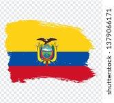 flag of ecuador from brush...