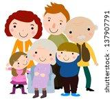 illustration of a big happy... | Shutterstock .eps vector #137907791