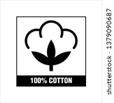 one hundred percent cotton icon ... | Shutterstock .eps vector #1379090687