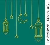 hanging lantern for ramadan eid ... | Shutterstock .eps vector #1379091017