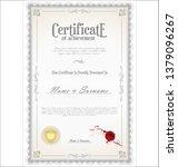 certificate or diploma retro... | Shutterstock .eps vector #1379096267