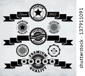 retro ribbons and badges. eps10. | Shutterstock .eps vector #137911091