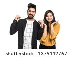 Cheerful Indian Couple Is...