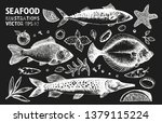 fishes and spices vector set.... | Shutterstock .eps vector #1379115224