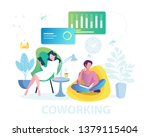 coworking space  business team... | Shutterstock .eps vector #1379115404