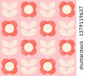 seamless pattern with stylized... | Shutterstock .eps vector #1379119637