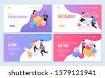 isometric teamwork... | Shutterstock .eps vector #1379121941
