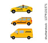 yellow taxi cars set. taxi...   Shutterstock .eps vector #1379131571