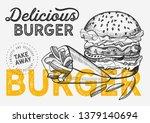burger illustration for... | Shutterstock .eps vector #1379140694