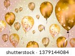 elegant brown flying helium... | Shutterstock .eps vector #1379144084