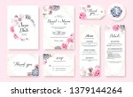 floral wedding invitation card  ... | Shutterstock .eps vector #1379144264