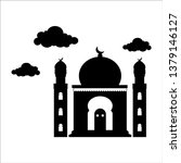 simple mosque silhouette design | Shutterstock .eps vector #1379146127