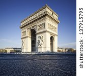 famous view of the arc de... | Shutterstock . vector #137915795