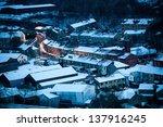 A British Village Under Snow...