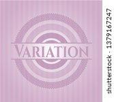 variation pink emblem. vintage. | Shutterstock .eps vector #1379167247