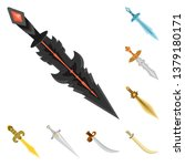 vector illustration of sword ... | Shutterstock .eps vector #1379180171