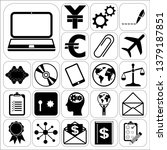 set of 22 business symbols of... | Shutterstock .eps vector #1379187851