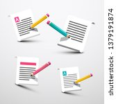 paper with pencil symbols.... | Shutterstock .eps vector #1379191874