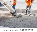 Pouring Cement During Sidewalk...