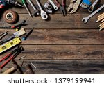 empty chalkboard with many... | Shutterstock . vector #1379199941