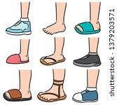 vector set of cartoon leg | Shutterstock .eps vector #1379203571