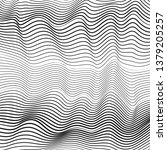 black and white dynamic waves.... | Shutterstock .eps vector #1379205257