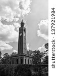 Bell Tower at UNC Chapel Hill in North Carolina in Black and White
