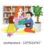 elementary school students... | Shutterstock .eps vector #1379223767