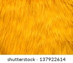 Yellow Fur Texture Background