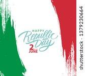 italian republic day greeting... | Shutterstock .eps vector #1379230664