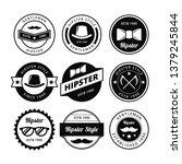 hipster badge vector | Shutterstock .eps vector #1379245844