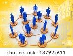 business network | Shutterstock . vector #137925611