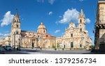 Acireale - The Duomo (Maria Santissima Annunziata) and the church Basilica dei Santi Pietro e Paolo.