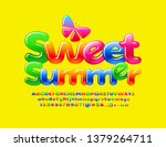 vector colorful glossy banner... | Shutterstock .eps vector #1379264711
