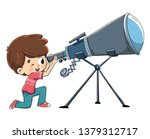 child looking through a... | Shutterstock .eps vector #1379312717