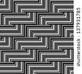 black and white zigzag pattern  ... | Shutterstock .eps vector #137931785