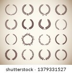 collection of different vintage ... | Shutterstock .eps vector #1379331527
