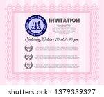 pink vintage invitation. good...   Shutterstock .eps vector #1379339327