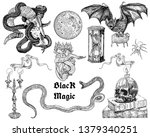 black magic symbols collection  ... | Shutterstock .eps vector #1379340251