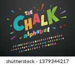 bright colorful chalk board... | Shutterstock .eps vector #1379344217