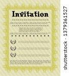 yellow vintage invitation....   Shutterstock .eps vector #1379361527