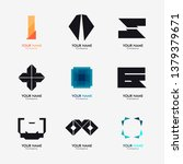 nine logo set   unusual icons... | Shutterstock .eps vector #1379379671