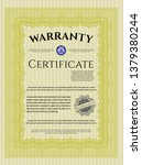 yellow vintage warranty...   Shutterstock .eps vector #1379380244