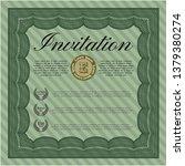 green retro vintage invitation. ...   Shutterstock .eps vector #1379380274