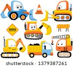 vector set of construction... | Shutterstock .eps vector #1379387261