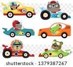 Vector Set Of Cars Race Cartoon ...