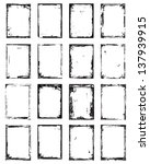 grunge border set | Shutterstock .eps vector #137939915